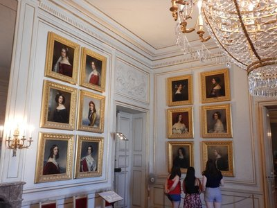 This is King Ludwig I's Gallery of Beauties with portraits of 36 women from all social ranks; the king was a consummate girl watcher who would ask ladies if they would like their portrait done