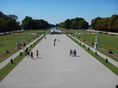 The Baroque grounds were modeled on the park at Versailles; the Residenz, in Munich proper, has more elegant rooms but tourists come here for the relaxing setting