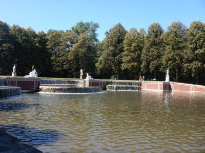 The Grand Cascade (1717) leads to the Grand Canal which runs about a mile to the main palace; Germans love to get out and walk so I was very envious of the many older people here that were in great shape