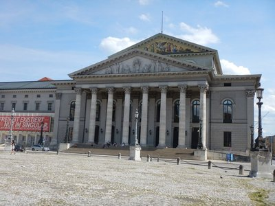 The National Theatre is a historic opera house, home of the Bavarian State Opera, Bavarian State Orchestra and the Bavarian State Ballet