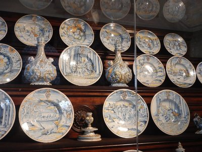The best porcelain centers in the world, Meissen and Sevres, sent their finest collections to the Munich Residenz; they had to have place settings for 200