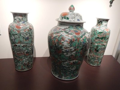 Qing Dynasty Chinese vases, 1720; European royalty were huge collectors of valuable porcelain and especially Asian porcelain