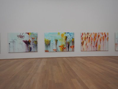 The Museum Brandhorst has 200  works of Cy Twombly which occupy an entire floor; museum brochure-no other 20th century artist committed himself as fully to the zero point of modern art as Twombly