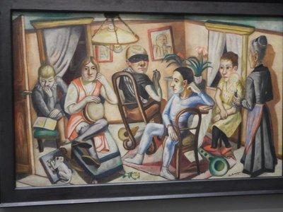 Beckmann, Before the Masked Ball, 1922; leading German artists were emphasized in the Pinakothek der Moderne