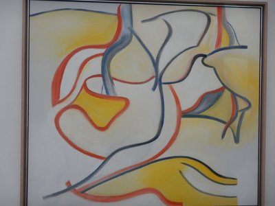 De Kooning, Stowaway, 1986; he was born in Rotterdam, but moved to the US and became a member of the New York school of abstract expressionists