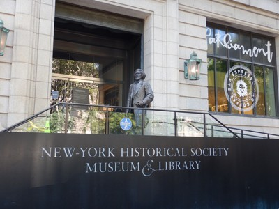 The New-York Historical Society was founded in 1804 as New York's first museum; the hyphenated name is correct since it was the general use back then and has never been changed (it's also chiseled in stone on the building)