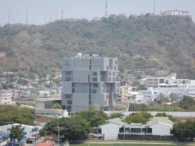 Modern architecture; on the right side of the hill is Nuestra Senora de la Candelaria Convent which Pope John Paul II visited in 1986