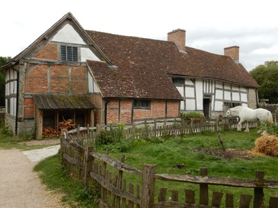 Mary Arden's Farm was the home of Shakespeare's mother although this building (for decades thought to be Mary's) actually belonged to a neighbor; we bought tickets to visit all 5 of the properties of Shakespeare's Birthplace Trust
