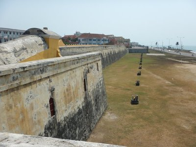 The historic city is surrounded by 11 kilometers of defensive walls built starting in 1586; the walls were complemented by fortresses making the city impenetrable