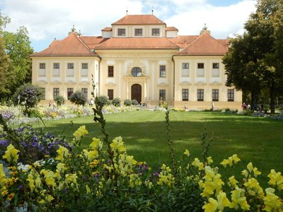 Elector Max Emanuel had the hunting lodge of Lustheim built between 1684-1688 to celebrate his wedding to the emperor's daughter; it provides a focal point at the end of the extensive Baroque garden