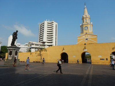 Cartagena, along with Veracruz, Mexico, were the two ports where Spain brought slaves from Africa to be sold; auctions for slaves were held in this square
