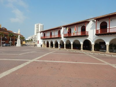 Plaza de la Aduana is the largest and oldest square in the old city; it was used as a parade ground in colonial times