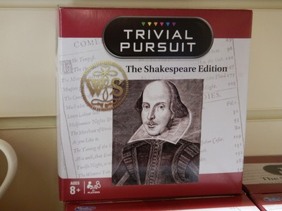 Each Shakespeare sight had a well-stocked gift shop with tons of stuff no one needs; I always thought I was good at Trivial Pursuit but I wouldn't get a single question correct in this version