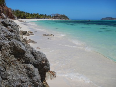 The only lodging on this gorgeous island was just a few primitive cabins; the fine, white sand was ideal and very unusual for a beach in the Philippines