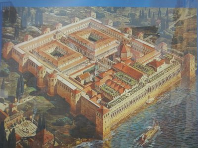 This illustration shows how imposing Diocletian's Palace was; several thousand people still live inside what was once the palace (a rarity for a UNESCO site)
