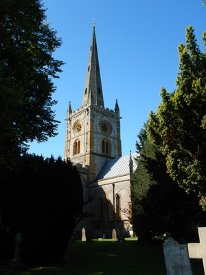 Holy Trinity Church, on the banks of the River Avon, attracts 200,000  visitors each year due to its connections to Shakespeare; we visited sights first thing in the morning before all the day-trippers arrived