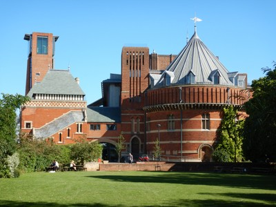 The Royal Shakespeare Theater opened in 1932 and became the first important work erected in Britain from the designs of a woman architect; a prior 1879 Shakespeare theater existed here but had burned