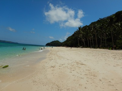 Puka Beach; this beach is on the north side of the island and is supposedly quieter than White Beach except when dozens of island hopping boats all arrive at the same time