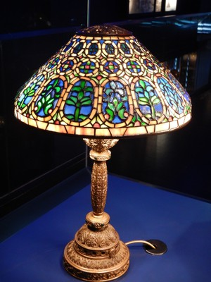 Venetian Desk Lamp (ca. 1906-08); Tiffany's big break came in 1882 when President Chester Arthur refused to move into the White House until it had been redecorated; he commissioned Tiffany to redecorate all of the State rooms