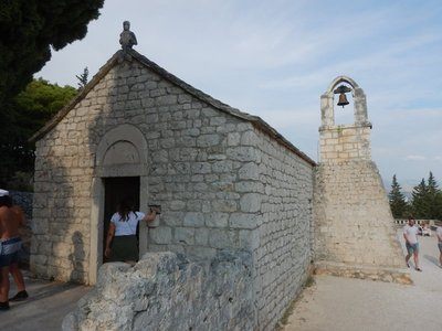 This old church is near the top of Marjan Hill (183 m) which happened to be between the beach and my apartment; young people hiked up the hill for the views
