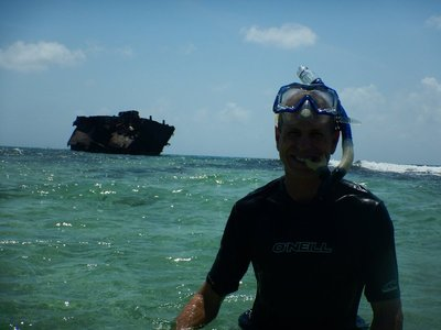 One of the most accessible shipwrecks to snorkel anywhere; had to be very careful to avoid rusted and sharp metal