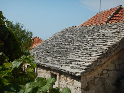 Before Croatia's famous red-tiled roofs, the stone houses used to all have slate roofs; the country is still talking about its tremendous showing at the World Cup which is a source of national pride