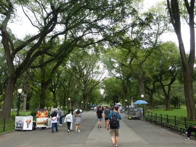 The Mall in Central Park is lined with American elms and is one of the most beautiful areas of the Park; it hasn't changed significantly since landscape architects Frederick Law Olmsted and Calvert Vaux completed Central Park in 1876