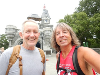 Mike and I strolled the entire 6 mile perimeter of Central Park (sometimes in the rain); the 1872 Belvedere Castle is one of the most iconic features of the Park and sits atop its second highest natural point