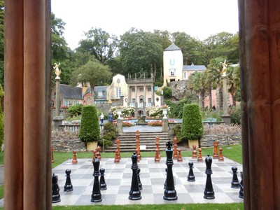 Portmeirion is often called the UK's most odd village but it's a fun, offbeat attraction; I just loved the whimsical nature of it and the colors brightened a blustery Welsh day