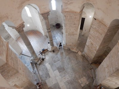 The 9th century Church of Saint Donatus is the most important preserved structure of its period in Dalmatia; the massive dome of the rotunda is surrounded by a vaulted, two-story gallery