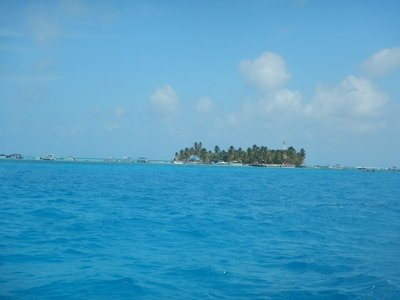 View of Haynes Cay from close to mainland San Andres; San Andres popular with young Colombians eager to escape the cold of the Colombian Andes