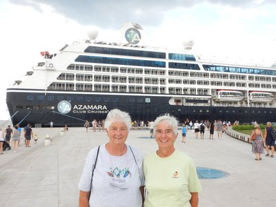 I had a great time showing Marilyn and Dorothy Zadar on a very quick walking tour; their cruise ship conveniently docked right next to the old town