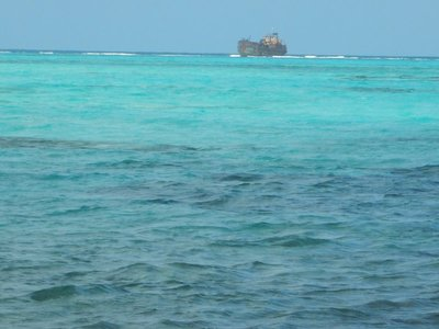 The sea here is famous for being 7 shades of blue; many shipwrecks along the 9 mile reef on east side of San Andres