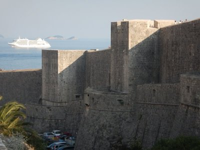 The city walls of Dubrovnik are one of the most famous fortification systems in Europe and the city's trademark; they were initially constructed in the 8th century with final sections completed in the 13th century