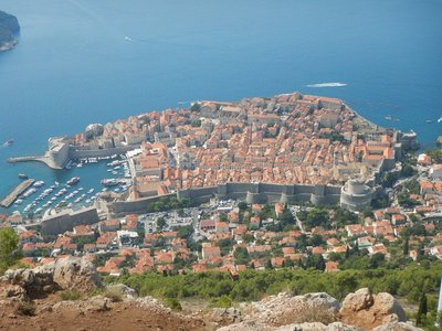 I think the view from the top of the cable car is one of the most beautiful anywhere in the world; the walls of Dubrovnik withstood the 1667 earthquake with little damage