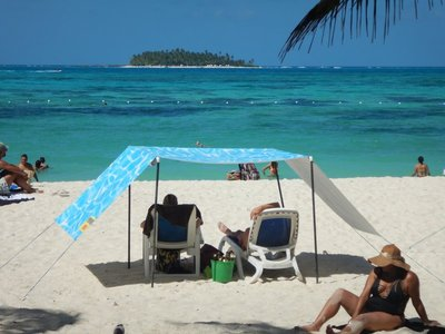 Playa Spratt Bight is the most popular beach on San Andres; it's right in the city and has gorgeous views of Johnny Cay