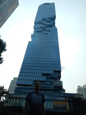 The 78 story King Power building reminds me of Jenga; the building is named for the Thai company which runs the duty free stores at airports
