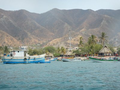 Taganga was photogenic from the sea; you can't see the many stray dogs, dirt streets, litter or poverty