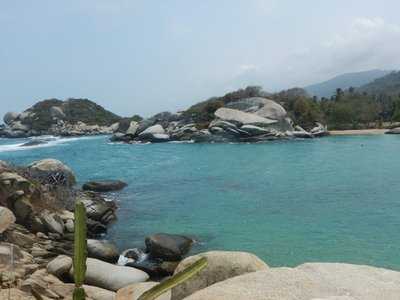 Blue skies, gray boulders, green forest and turquoise waters made for a very photogenic panorama throughout the park