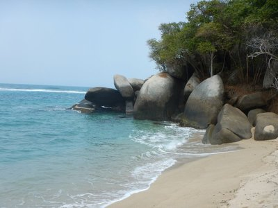 The scenery at Tayrona National Park was spectacular when the sun was out; there are very few places to stay in the park with most of them being basic campgrounds