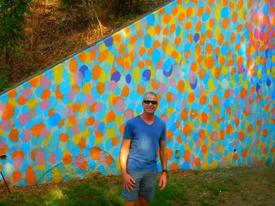 Art on the Atlanta BeltLine is the largest temporary public art exhibition in Atlanta  that showcases the work of hundreds of visual artists, performers, and musicians along nine miles (14 km) of the BeltLine corridor