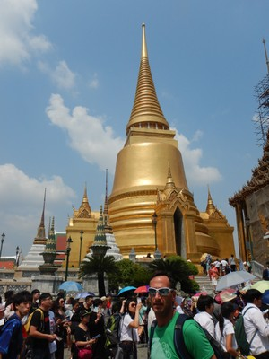Wat Phra Kaew is regarded as the most sacred Buddhist temple (wat) in Thailand; the 234 acre complex has more than 100 buildings with 200 years of royal history
