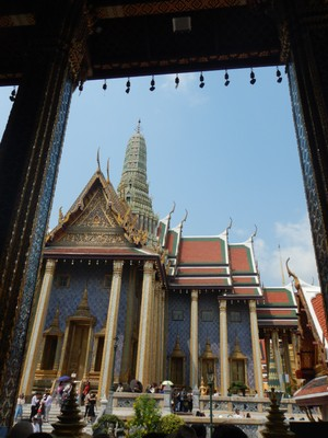 The Royal Pantheon was built in 1855 to house the Emerald Buddha by Rama IV; Rama V decided it was wasn't big enough for a royal congregation and built the current Temple of the Emerald Buddha