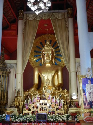 Wat Phra Singh is Chiang Mai's most revered temple; pilgrims flock here to venerate the famous Lion Buddha
