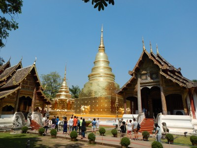 Construction on Wat Phra Singh began in 1345 when King Phayu,:226–227 the fifth king of the Mangrai dynasty, had a chedi built to house the ashes of his father King Kham Fu