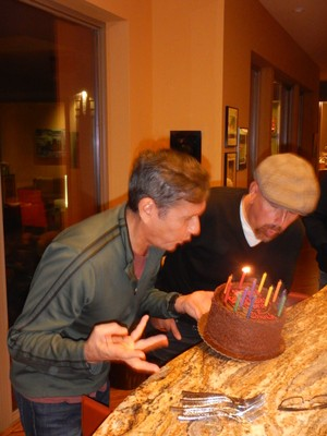 Oops, didn't blow out all the candles; maybe Bernie and Chuck will be able to join us on our next diving trip!
