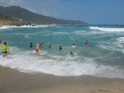 La Piscinita was one of the few beaches where you were allowed to get in the rough waters; lifeguards are not usually at the park but it was Easter week for our visit and they were on duty