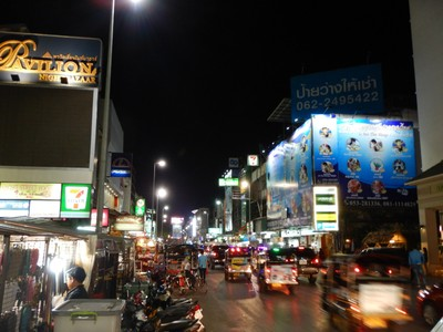 Parts of Chiang Mai at night are reminiscent of downtown Las Vegas; there are chain restaurants, street vendors and lots of tourists