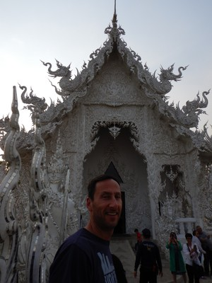 All the exteriors were covered in white plaster with glass inserts; the glass was used as a symbol of the wisdom of Buddha, and the white color represents the purity of the deity