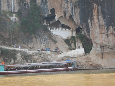 The Pak Ou Cave near Luong Prabang is also known as the Buddha Cave because locals would pray before undertaking a boat journey on the Mekong
